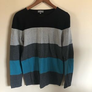 Market & Spruce | Blue Striped Pullover Sweater